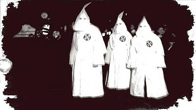 Vintage Kkk Rally   Unknown Location Circa 1924 Color Added 2014 Art Print by David Lee Guss