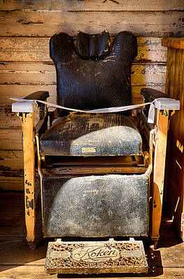 Photograph - Vintage Koken Barber Chair  by Saija  Lehtonen