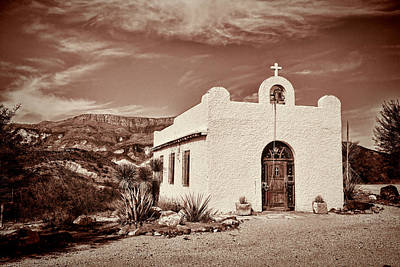 Photograph - Vintage Lajitas Chapel by Judy Vincent
