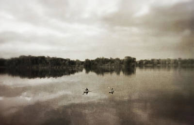 Photograph - Vintage Lake Of The Isles Kayaks by Heidi Hermes