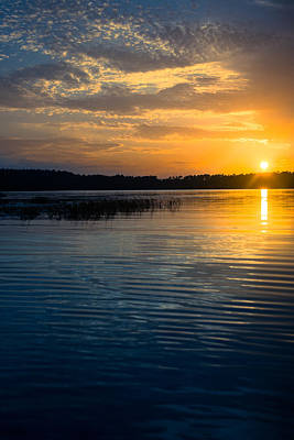 Photograph - Vintage Lake Sunset by Parker Cunningham