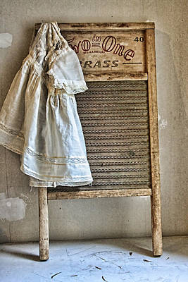 Primitive Photograph - Vintage Laundry II by Marcie  Adams