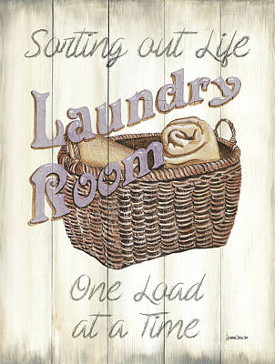 Signed Painting - Vintage Laundry Room 2 by Debbie DeWitt