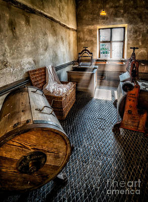 Beam Digital Art - Vintage Laundry Room by Adrian Evans