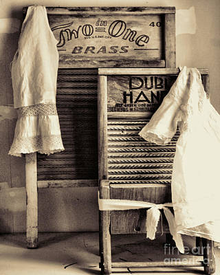 Vintage Laundry Room Art Print by Mindy Sommers