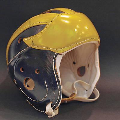 Vintage Leather Wolverine Helmet Art Print