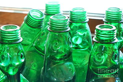 Photograph - Vintage Lemonade Glass Bottles by Yali Shi