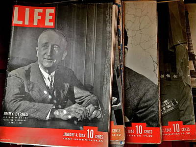 Photograph - Vintage Life Magazines by Denise Mazzocco