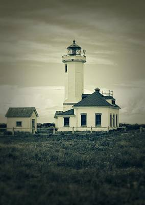 Photograph - Vintage Lighthouse Monochrome by Dan Sproul