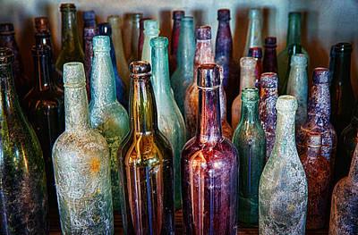 Photograph - Vintage Liquor Bottles  by Saija  Lehtonen