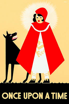 Photograph - Vintage Little Red Riding Hood Poster by Mark E Tisdale