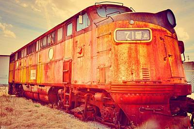 Photograph - Vintage Locomotive 715 by Lisa Wooten