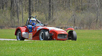 Photograph - Vintage Lotus Approaches Lefthander by Mike Martin