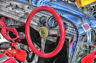 Photograph - Vintage Lotus Cockpit by Mike Martin