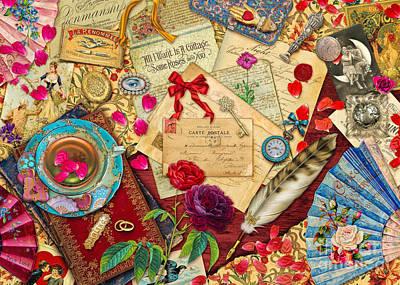 Pen Digital Art - Vintage Love Letters by Aimee Stewart