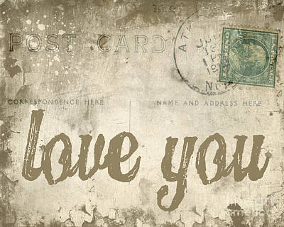 Old Digital Art - Vintage Love Letters by Edward Fielding