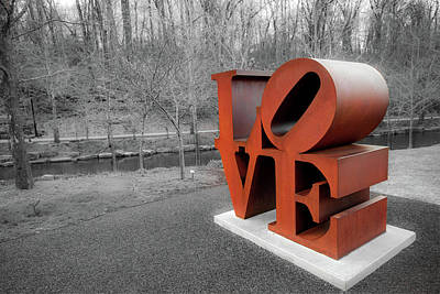 Photograph - Vintage Love Sculpture - Crystal Bridges Museum Of Art by Gregory Ballos