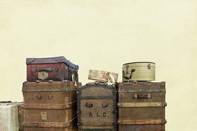 Steamer Trunks And Vintage Luggage Art Print