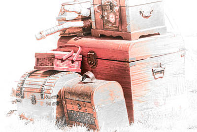 Photograph - Vintage Luggage by Steve McKinzie