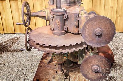 Vintage Photograph - Vintage Lumber Saw by David Millenheft