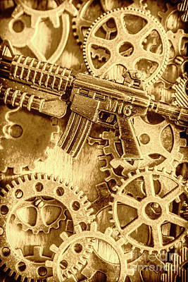 Machinery Photograph - Vintage M16 Artwork by Jorgo Photography - Wall Art Gallery