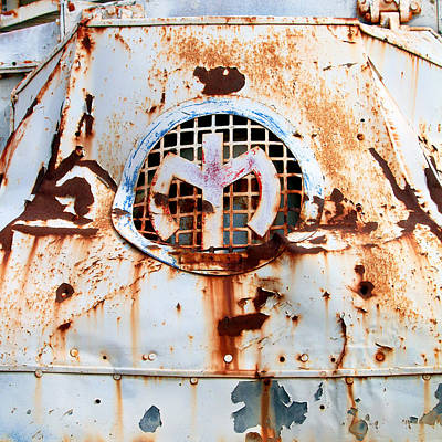 Letter M Photograph - Vintage Mack Truck Logo by Art Block Collections