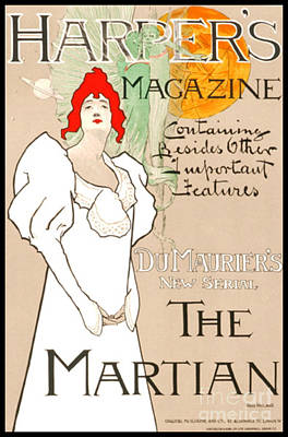 Photograph - Vintage Magazine Cover 1898 by Padre Art