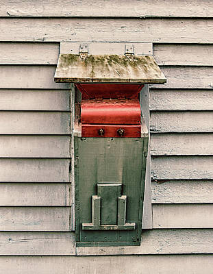 Art Print featuring the photograph Vintage Mailbox by Gary Slawsky