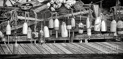 Photograph - Vintage Maine Lobstering by Olivier Le Queinec