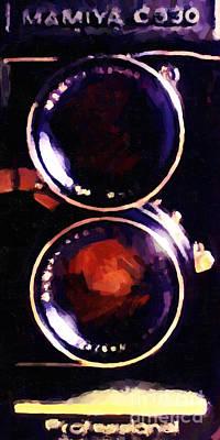 Wingsdomain Photograph - Vintage Mamiya Camera by Wingsdomain Art and Photography