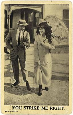 Vintage Man Wearing Boater Hat Art Print by Gillham Studios