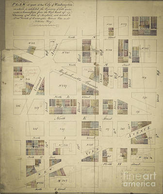 Digital Art - Vintage Map Of A Plan For Washington Dc 1790 by Melissa Messick