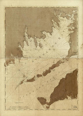 Vintage Map Of Buzzards Bay - 1776 Art Print by CartographyAssociates
