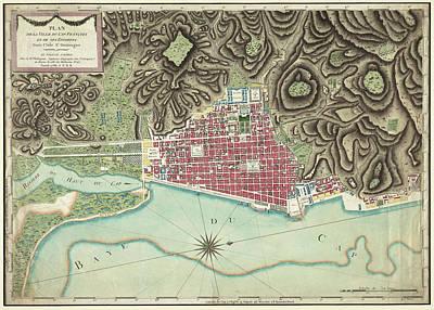 Hati Drawing - Vintage Map Of Cap-haitien Haiti - 1786 by CartographyAssociates