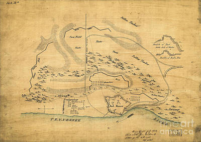 Digital Art - Vintage Map Of Fort Henry Tn 1862  by Melissa Messick