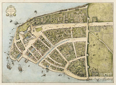 Vintage Map Of Manhattan Original
