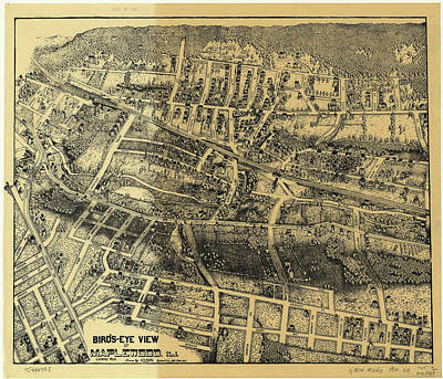 Nj Drawing - Vintage Map Of Maplewood Nj - 1910 by CartographyAssociates