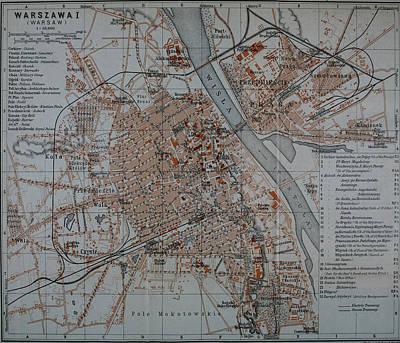 Studio Grafika Vintage Posters - Vintage Map of Warsaw Poland - 1914 by CartographyAssociates