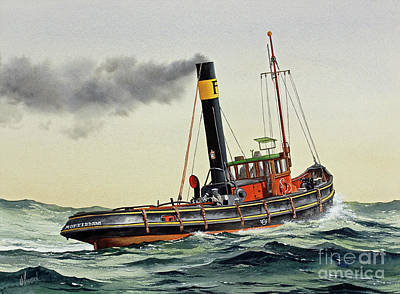 Painting - Vintage Maritime Steam by James Williamson
