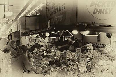 Vintage Market Art Print by David Patterson
