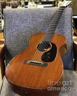 Photograph - Vintage Martin Guitar by John S