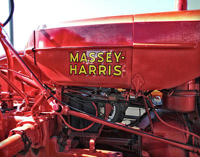 Vintage Massey Harris Tractor Art Print by Ann Powell