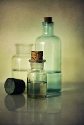 Broken Bottle Photograph - Vintage Medical Bottles by Jaroslaw Blaminsky