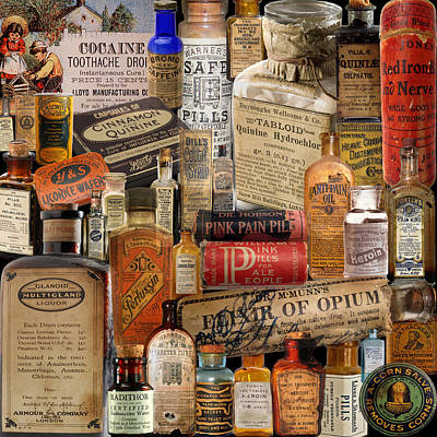 Photograph - Vintage Medicine by Andrew Fare