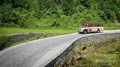 Photograph - Vintage Mercedes Bus On A Road by Vyacheslav Isaev