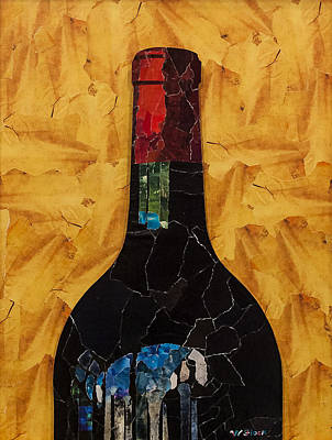 Wall Art - Mixed Media - Vintage Merlot by Wendell Fiock