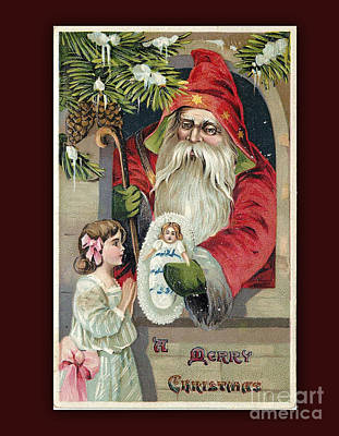 Digital Art - Vintage Merry Christmas Card by Melissa Messick