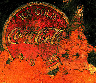 Coca-cola Signs Mixed Media - Vintage Metal Coca Cola Sign                       by Brian Reaves