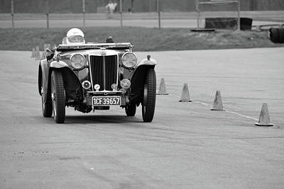 Photograph - Vintage Mg In Pit Lane by Mike Martin