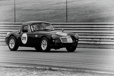Photograph - Vintage Mg On Track by Mike Martin